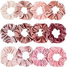 Whaline Blush Theme Hair Scrunchies Velvet Elastics Pink Lovers Scrunchy Bobbles Soft Hair Bands Hair Ties Hair Accessorie...