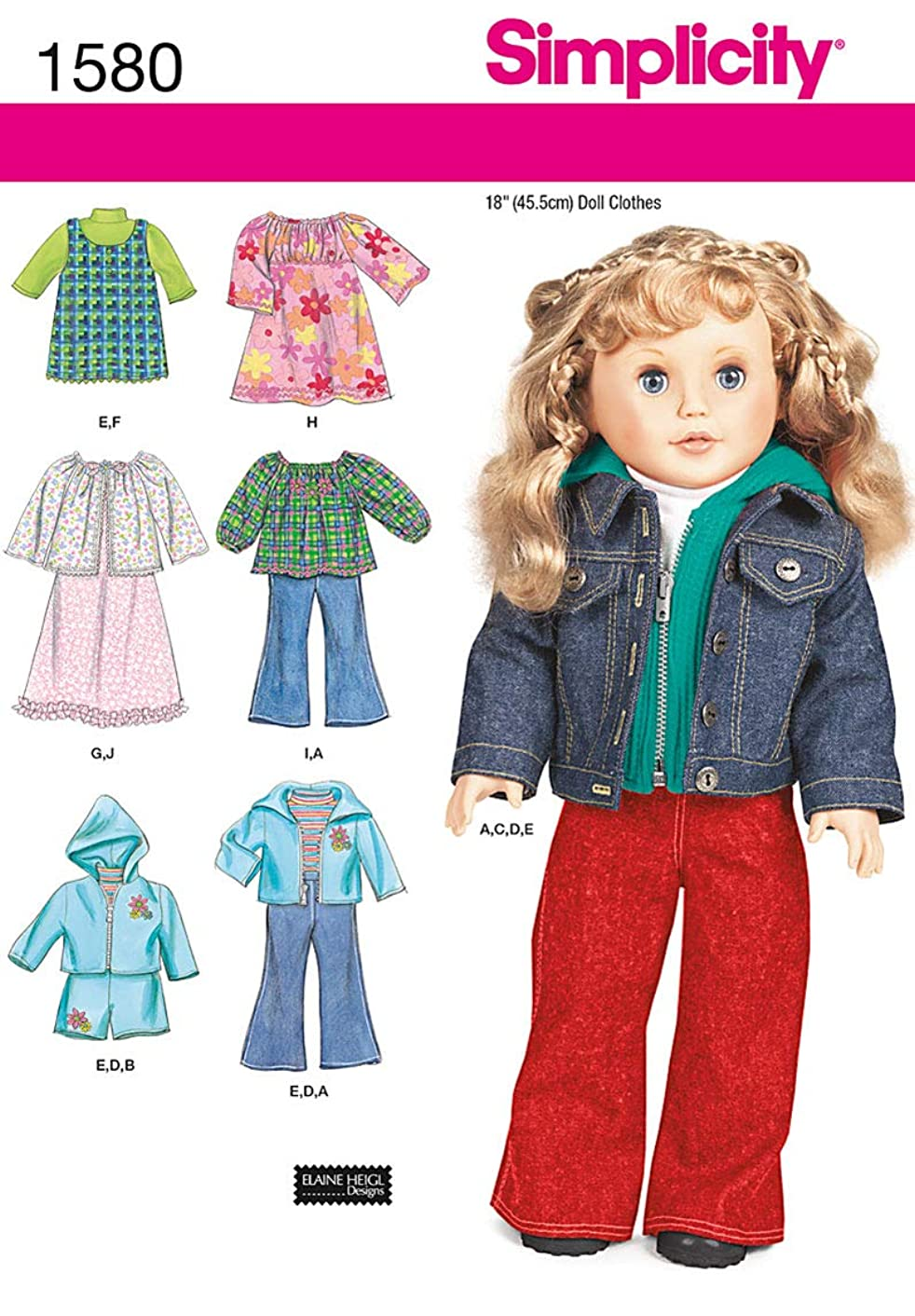 Simplicity Creative Patterns 1580 Doll Clothes
