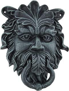 Verdigris Finish Cast Iron Celtic Greenman Door Knocker