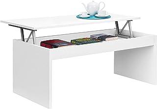 comprar comparacion Habitdesign 001638BO - Mesa de Centro elevable, mesita Mueble Salon Comedor, Medidas: 102 cm (Ancho) x 50 cm (Fondo) x 43/...