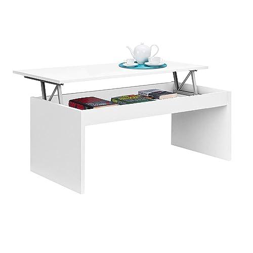 Table Basse Laqué Blanc Amazonfr