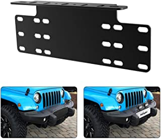 Nilight 90044B Universal License Heavy Duty Steel Front Plate Mounting Bracket Holder for Off-Road LED Work Lamps Lighting...