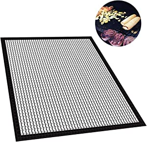 Shangwelluk Outdoor Cooking Glass Fiber Barbecue Grill Mesh Non-Stick Heat Resistance Thermal Anti-Blocking Barbecue Mat Pad