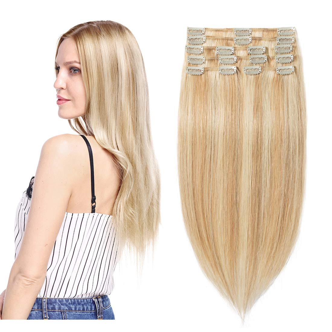 S-noilite Max 42% Large special price !! OFF Clip in Human Hair Extensions C Weft Standard Balayage