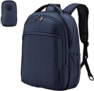Wemk Laptop Backpack, Business Backpack, Travel Computer Backpack for Women & Men, Water Resistant College School Computer Bag with a Little Bag, Fits 14.1 Inch Laptop& Notebook (Blue)