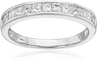 Platinum Princess-cut Diamond Bridal Wedding Band Ring (1 cttw, H-I, I1-I2)