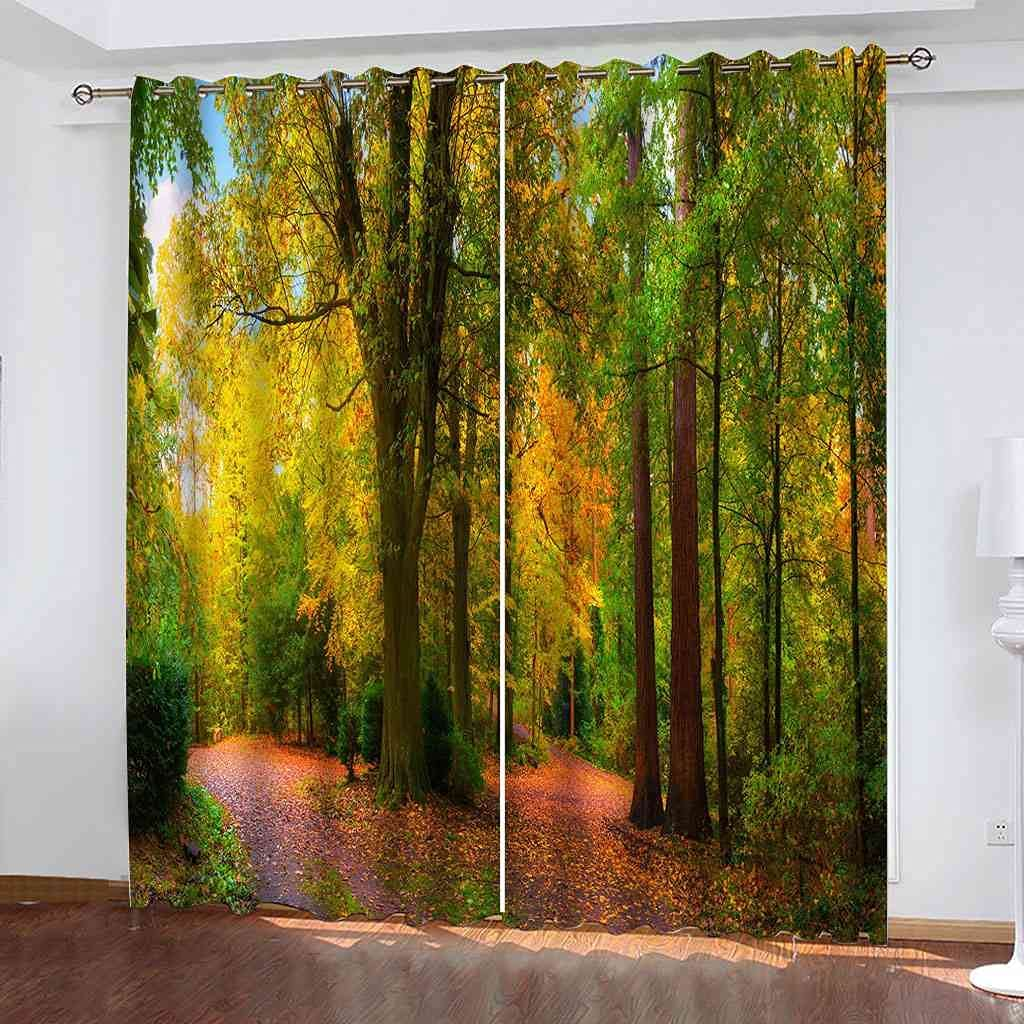 CUYQNS 3D Blackout Darkening Curtains Bedroom for Louisville-Jefferson County Mall Insula Thermal Max 53% OFF