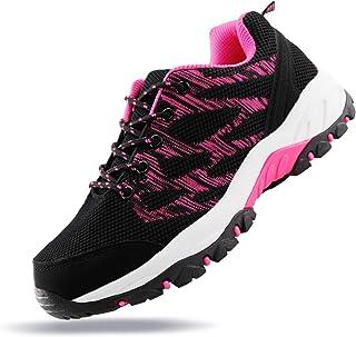 أحذية JABASIC النسائية للمشي في الهواء الطلق خفيفة الوزن متماسكة (9. 5، أسود/فوشي-1)