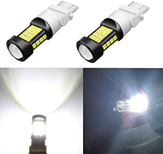 Alla Lighting 1000 Lumens 3030 36-SMD Extremely Super Bright 6000K Xenon White 3057 3056 T25 3157 3156 LED Bulb High Power LED Back-up Reverse Lights Bulbs Lamps Replacement