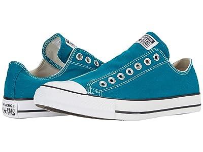Converse Chuck Taylor(r) All Star(r) Slip Seasonal Color Hi (Bright Spruce/White/Black) Slip on Shoes