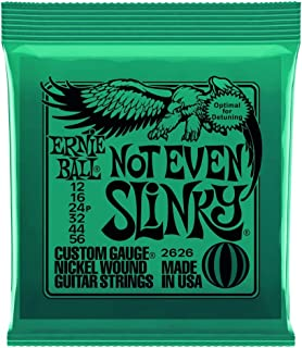 3 Pack | Ernie Ball Guitar Strings | Not Even Slinky | Electric | 12-56