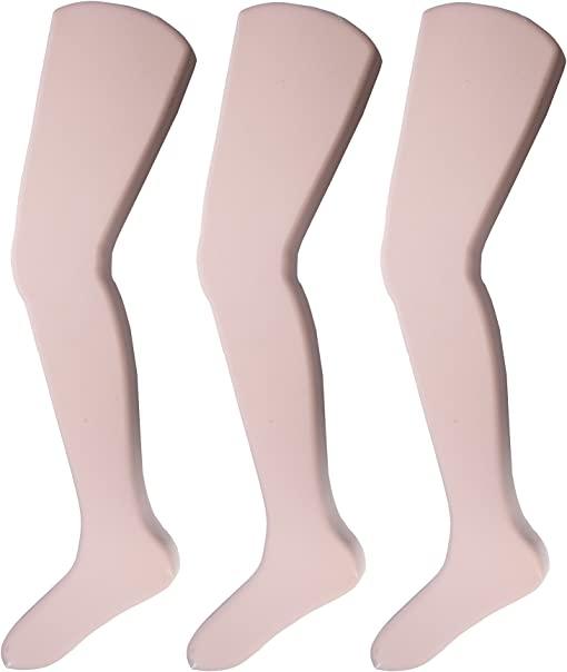 Jefferies Little Girls 3 Pack Tights White Toddler//Kid