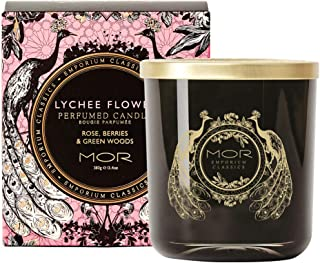 MOR Boutique Emporium Classics Lychee Flower Fragrant Candle, Lychee Flower, Scented, 380ml