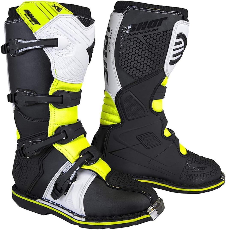 Shot X10 2.0 Black Stivali Motocross 41