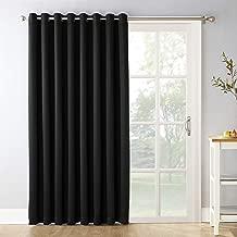 Sun Zero Easton Extra-Wide Tire three Blackout Sliding Patio Door Curtain Panel with Pull Wand, 100