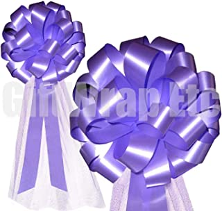 Lavender Wedding Pull Bows with Tulle Tails - 8