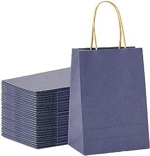 Wedding Party Bag-Black Party Bags Retail Handle Bags Merchandise Bag Tengcong Kraft Paper Shopping Bags,5.9x 2.3x 7.8 Kraft Paper Gift Bags with Handles 25pcs Kraft Paper Bags