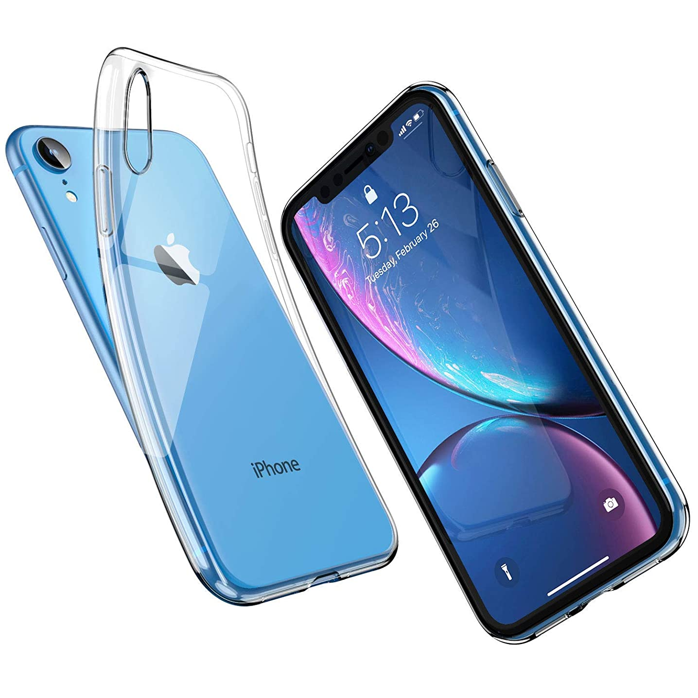 UNBREAKcable iPhone XR Case [Crystal Clear]- Ultra-Thin, Slim Soft TPU Silicone Protective Transparent Case Cover for Apple iPhone XR
