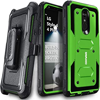LG Stylo 4 / Stylo 4 Plus/Stylo 4 + Case, COVRWARE [ Aegis Series ] with Built-in [Screen Protector] Heavy Duty Full-Body Rugged Holster Armor Case [Belt Swivel Clip][Kickstand], Green
