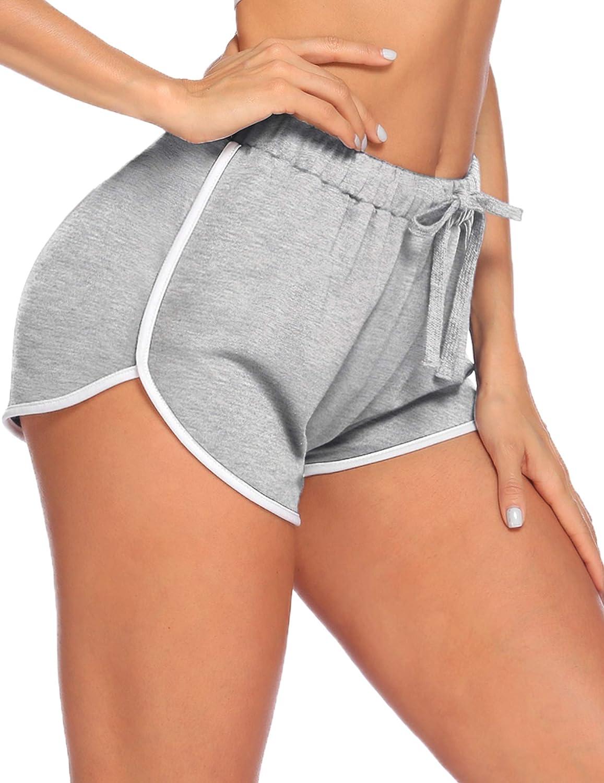 PEATAO Womens Pajama Shorts Elastic Waist Shorts Drawstring Pajama Bottoms Lounge Shorts Night Shorts Sleep Shorts for Women