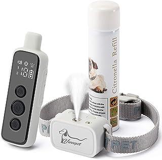 Citronella Dog Training Collar with Remote Control,3 Using Modes Spray Vibration and Beep,Spray Dog Bark Collar,1000ft Ran...