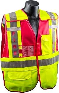 Full Source PSV-FIRE ANSI 207 Public Fire Safety Vest - Lime & Red - M/L
