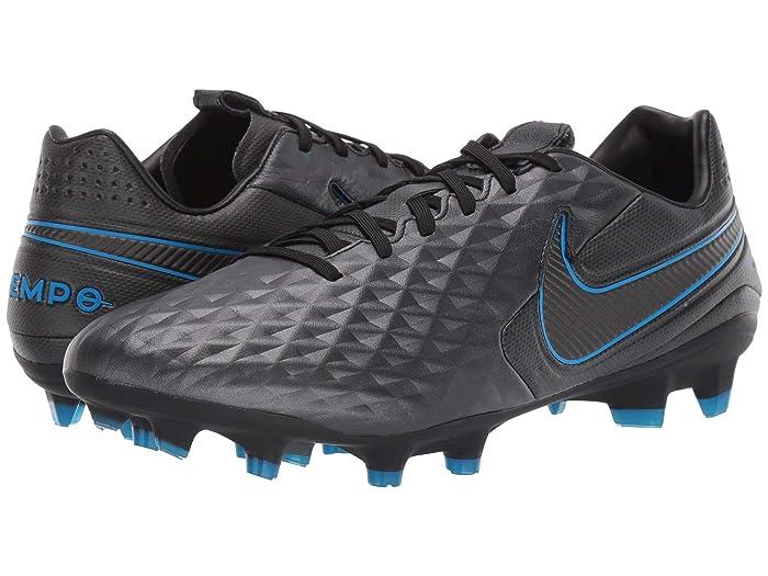 Nike Tiempo Legend 8 Pro FG (Black/Black/Blue Hero) Cleated Shoes