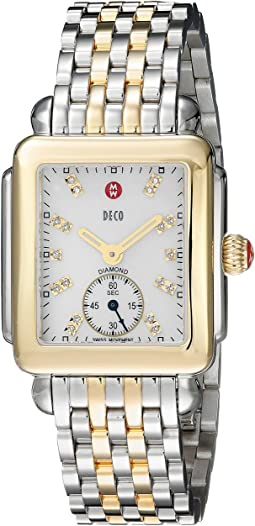 Michele - Deco Diamond-Two-Tone Stainless Steel Watch
