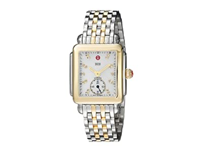 Michele Deco Diamond-Two-Tone Stainless Steel Watch (Two-Tone Silver/Gold) Watches
