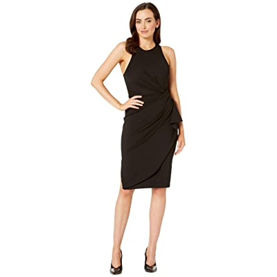 Laundry by Shelli Segal Ruched Cocktail Dress (Black) Women