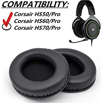Almohadillas de Repuesto para Auriculares Corsair HS60 7.1 Virtual Surround Sound PC Gaming Headset