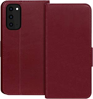 "FYY Samsung S20 Case 6.2"", Luxury Cowhide Genuine Leather [RFID Blocking] Wallet Case with Kickstand and Card Slots for Sa..."