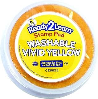Center Enterprise CE6623 Circular Washable Vivid Yellow Stamp Pad