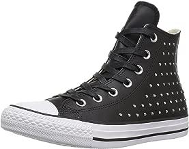 scarpe converse donna nere con borchie