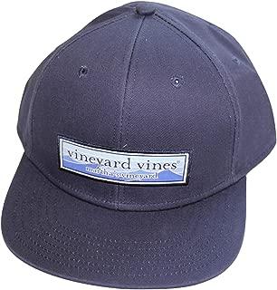 Men's Wave Patch High Profile Twill Baseball Hat Blue Cap