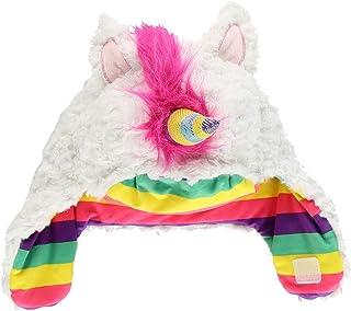 Girls Princess 3D Silver Glitter Novelty Unicorn Pony Plush Bobble Hat Costume