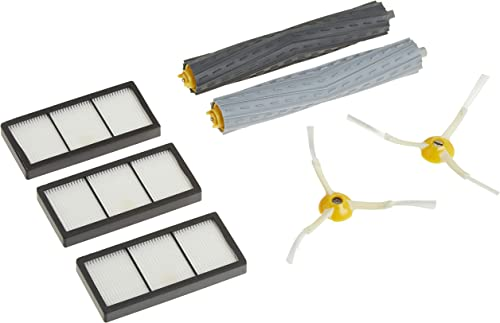 iRobot Authentic Replacement Parts- Roomba 800 and 900 Series Replenishment Kit (3 AeroForce Filters, 2 Spinning Side...