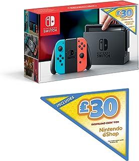 Nintendo 任天堂 Switch 游戏机 Joy-Con NS掌机 红蓝手柄 + 30英镑任天堂电子商店下载代码