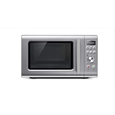 Breville BMO650SIL Compact Wave Soft Close Countertop Microwave Oven, Silver