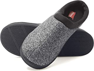 Boys Full Thermal Slippers Black And Blue Hard Bottom Size 10