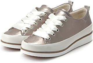 Bussola Women Koln Lace-Up Shoes, Karen Chunky Leather Sneakers with 2 Laces