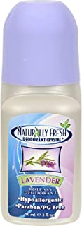 Naturally Fresh Deodorant, Roll On, Lavender, 3-Ounce Bottles (Pack of 6)