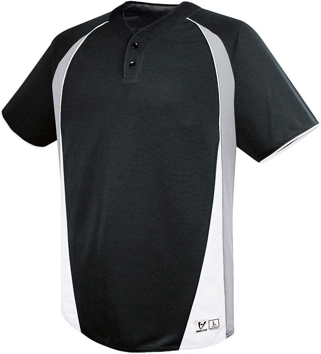 Augusta Sportswear Boys Ace Two-Button Silver Jersey Black Max Outlet ☆ Free Shipping 63% OFF S Gre