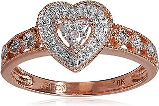 Corazón clásico Diamond Accent Anillo