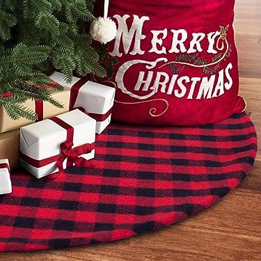 S-deal - Falda de árbol de Navidad con doble capa, decoración para interiores y exteriores, para fiesta de Navidad