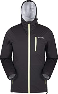 Mountain Warehouse Step Stretch Mens Waterproof Jacket - Wind Resistant Rain Jacket, Breathable Raincoat, Adjustable, Quic...