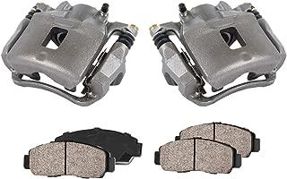 CCK11580 [2] FRONT Premium Loaded OE Caliper Assembly Set + Quiet Low Dust Ceramic Brake Pads