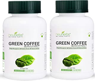 Neuherbs Green Coffee Bean Extract For Weight Loss - 60 Capsules (Pack of 2)
