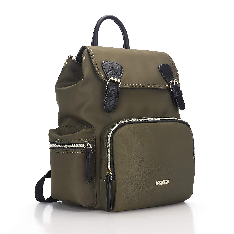 Diaper Bag Backpack, Pipi bear Baby Bag for Boys Girls, Multifunctional Nappy Bag with Stroller Hooks, Waterproof Stylish Travel Mommy Bag (Green)