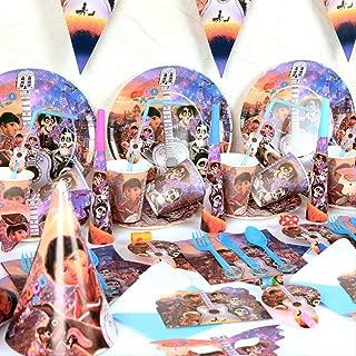 Juego de fiesta de taza desechable 92pcs / lot Tema COCO ...